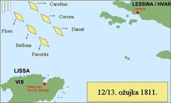 Francuski borbeni poredak u noći s 12. na 13. ožujka