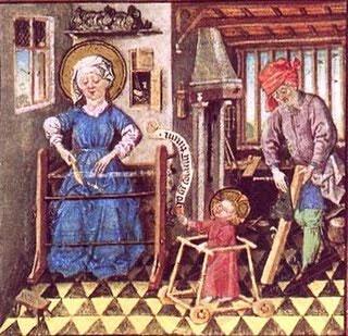 Prikaz kućanskih poslova u srednjem vijeku