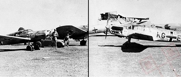 Blaichovi zrakoplovi uključeni u akciju