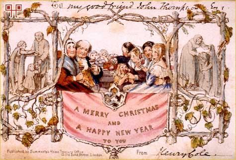 Prvu serijsku čestitku nacrtao je John Calcott Horsley