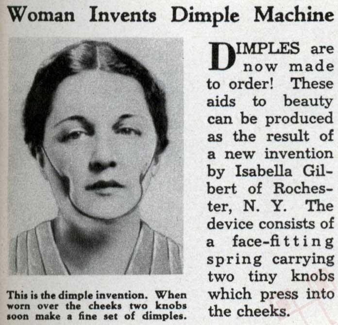 Žena je izumila mašinu za rupice na licu