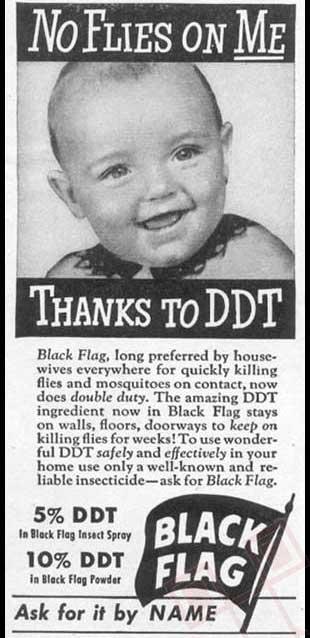 Na meni nema muha zahvaljujući DDT-u (koji je otrovan u većim doziranjima)