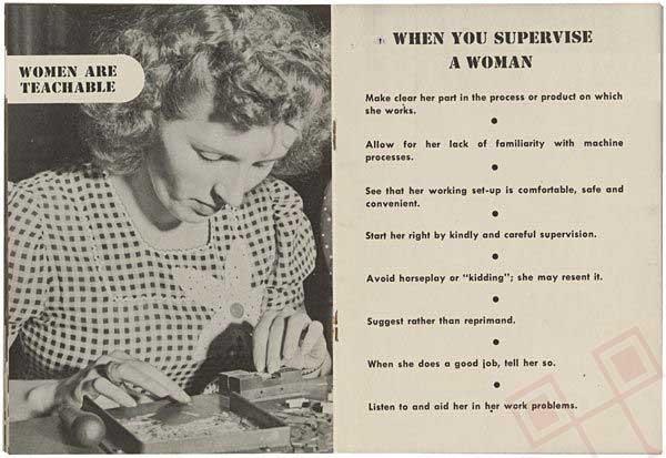 Žene mogu naučiti. Kada nadgledate rad žene: