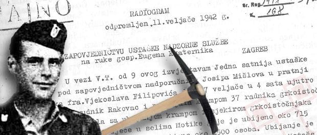 Izvor: radiogram o ustaškim zločinima 1942. godine
