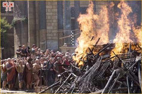 Scena spaljivanja Cezara