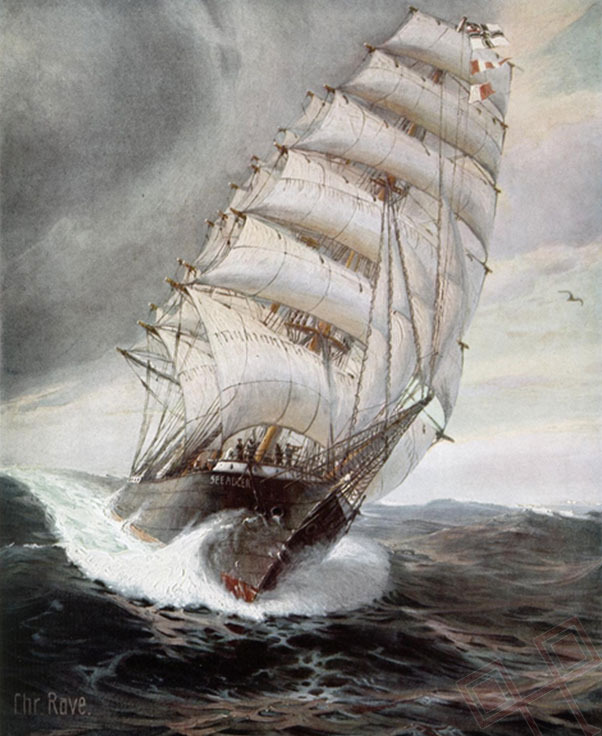 """""""Seeadler"""", slika Christophera Ravea."""