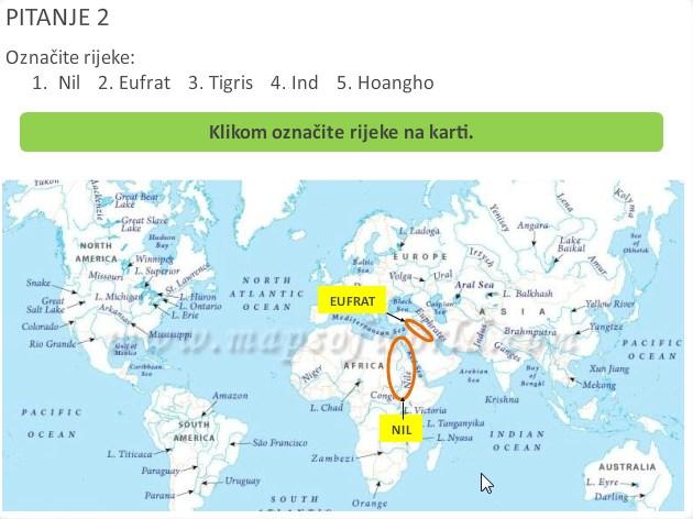 Koristi se mapa s puno engleskih naziva dok postoje slijepe mape koje su besplatne i mogle bi se bolje koristiti