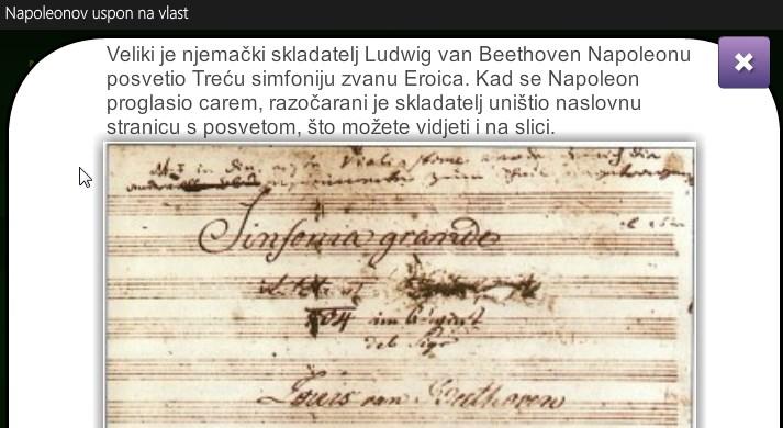 Tužno je spomenuti glazbeno djelo, a ne iskoristiti mogućnost da se ta glazba ponudi na slušanje. Kasnije se spominje Marseljeza (Simboli Francuske revolucije) i učenicima se daje zadatak da je potraže na mreži. Šteta je ne analizirati tekst Marseljeze.