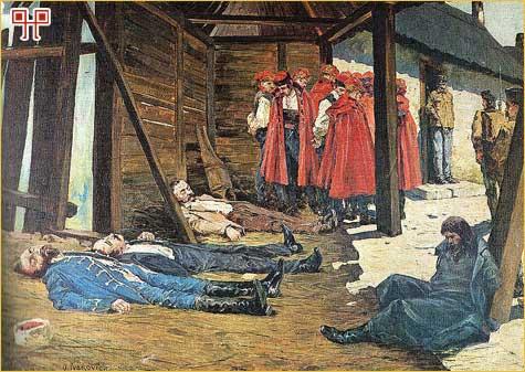 Oton Iveković, Rakovicka pogibija (smrt Eugena Kvaternika)