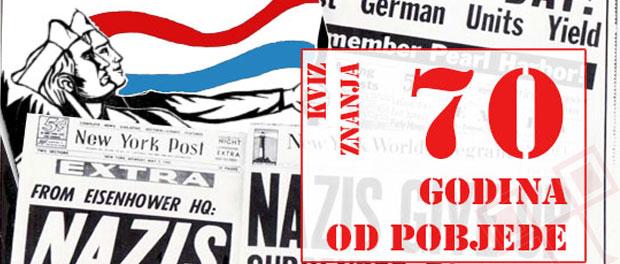 Rezultati 1. online kviza o Drugom svjetskom ratu - 70 godina od pobjede