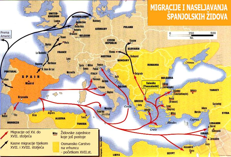 Migracije i naseljavanja španjolskih Židova