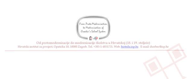 Najava doktorandske radionice: Istraživanje povijesti školstva u Hrvatskoj: građa i metodologija