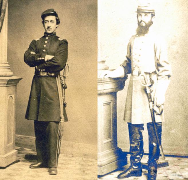 Edward Jonas, vojnik Unije i Charles H. Jonas, vojnik Konfederacije
