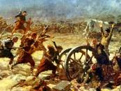 Bulgarian infantry assault successfully the Ottoman lines at Kirklareli during the first Balkan war (1912-1913)