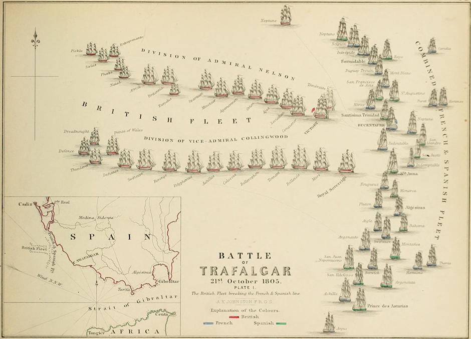 Početak bitke kod Trafalgara